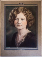 Mildred Lewis in her college years. Lewis will turn