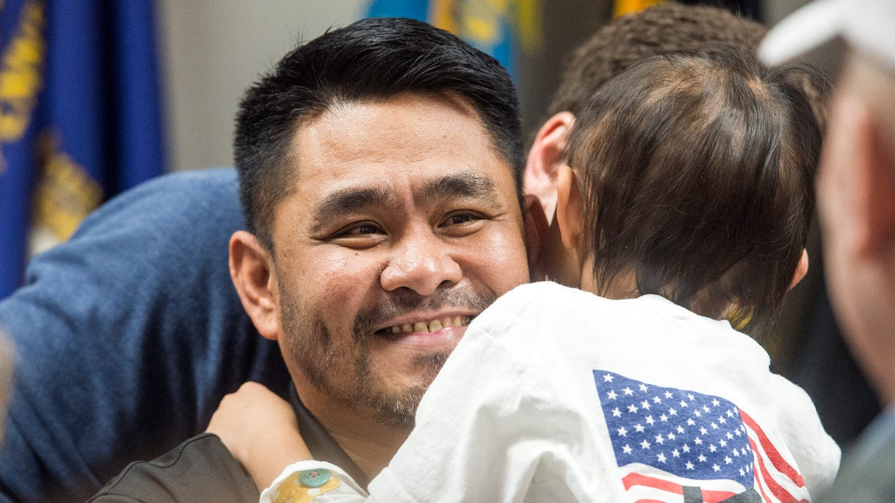 After losing his leg during his service in Afghanistan, Army Sgt. Lyndon Sampang found it difficult to do daily activities. He was selected by Home For Our Troops to receive a custom build house to accommodate his needs.