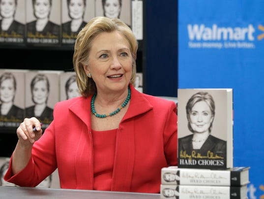 AP Hillary Clinton Book Tour