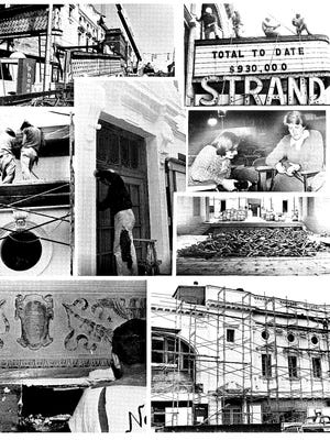 This photo collage shows renovations to the Strand and Capitol theaters in York.