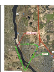 Closure of First Street Bridge in Sartell and detour.
