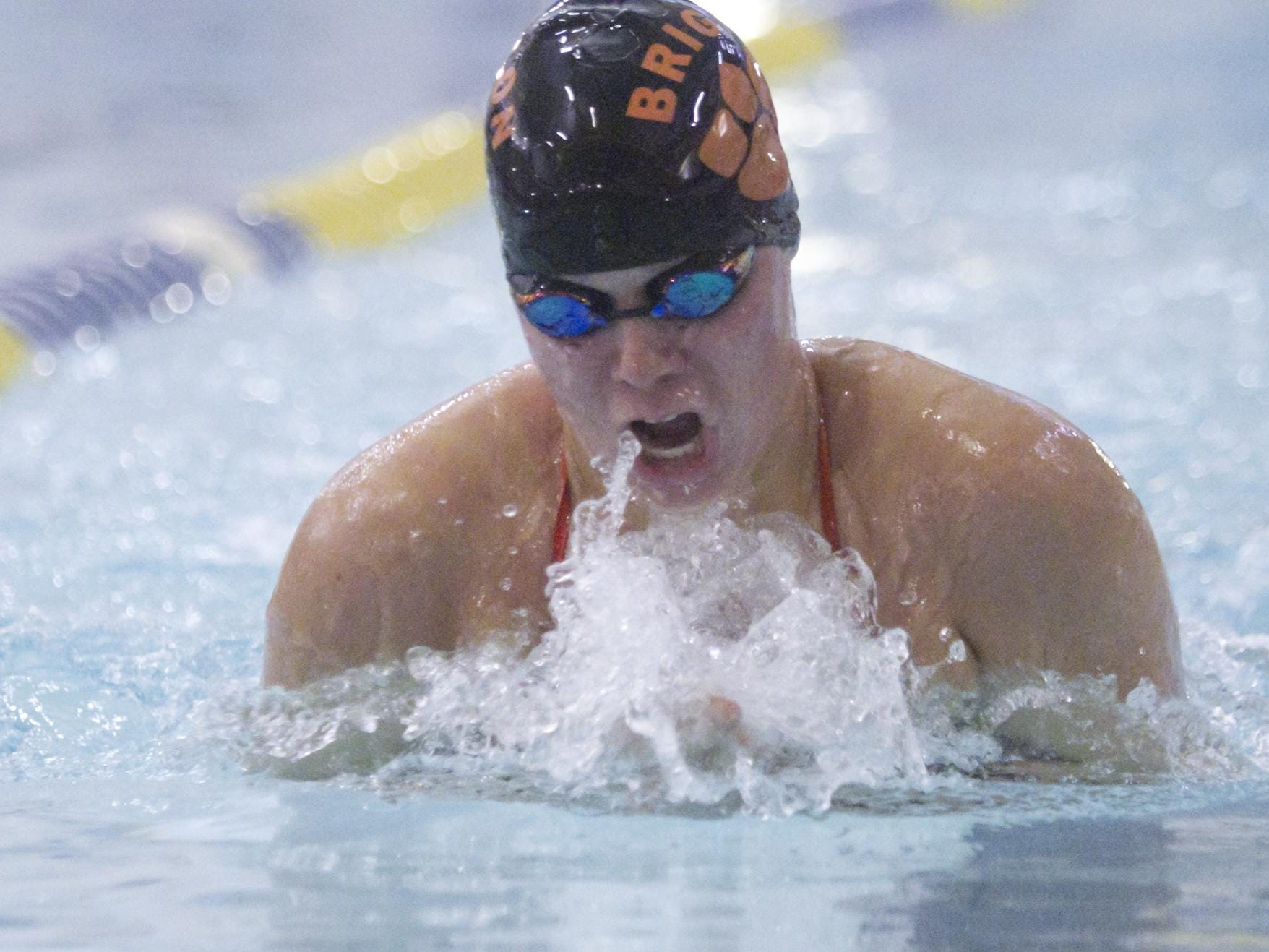 In the 200-yard individual medley, McKenna Resconich of Brighton took first place.
