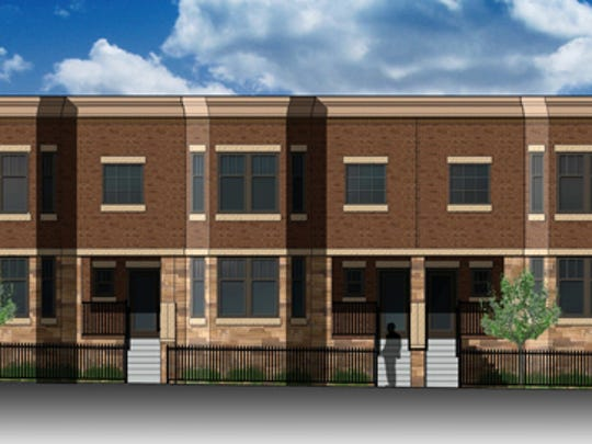 Riverlife Village will have two three-unit townhomes.