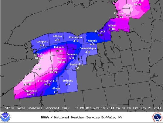 65 inches of snow in ny  lots more forecast