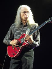 Guitarist Steve Howe of the band Yes performs in concert at Pier Six Pavilion in Baltimore. He will play Bethel Woods in June.