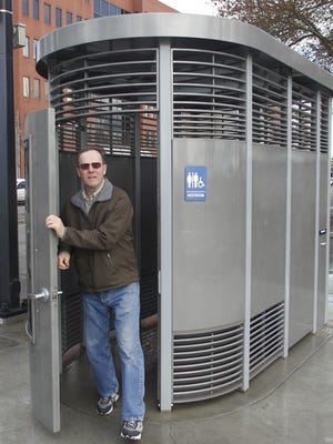 """A """"Portland Loo"""" is shown in this 2012 photo taken in Portland, Ore."""