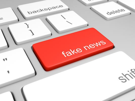 Computer key for accessing fake news websites that publish hoaxes