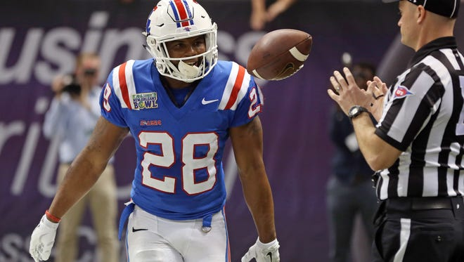 Former Louisiana Tech running back Kenneth Dixon finished his career with 87 touchdowns from scrimmage.