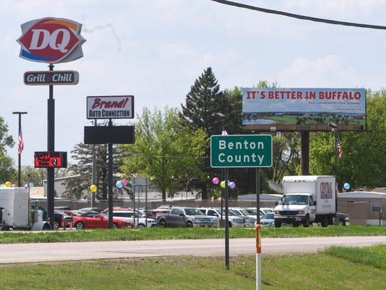 Traffic moves along U.S. Highway 10 Wednesday, May