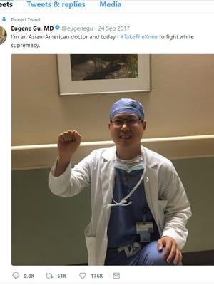 Dr. Eugene Gu, a resident at Vanderbilt University Medical Center, said his tweets have made him a target of the hospital.