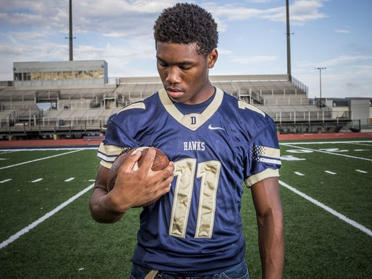 Tyrone Tracy, RB, Decatur Central.  Portrait taken on Aug. 10, 2016.