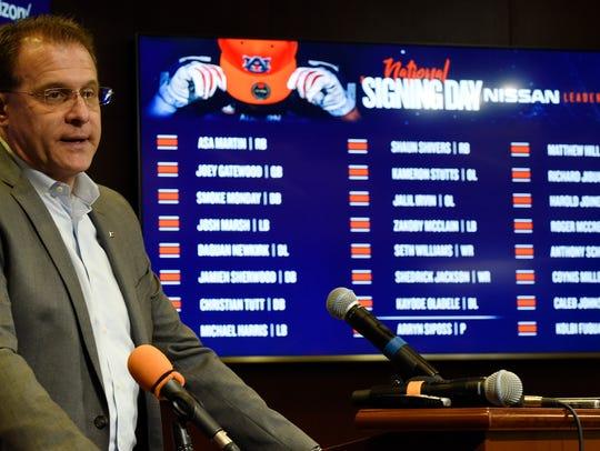 Coach Gus Malzahn  Auburn football National Signing
