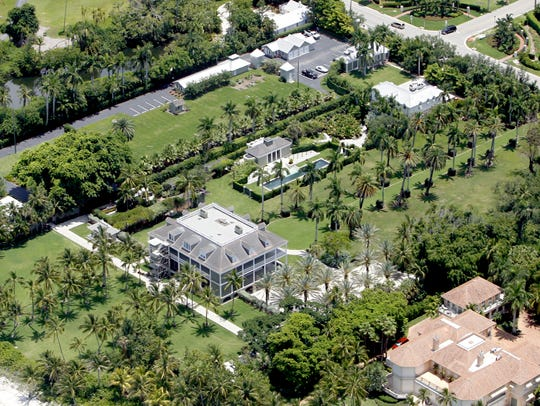 An aerial view of 2500 Gordon Drive in Naples.