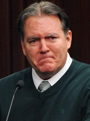 Michael Dunn, 47, broke down repeatedly as he took the stand in his own defense Feb. 11 during his trial in Jacksonville, Fla.