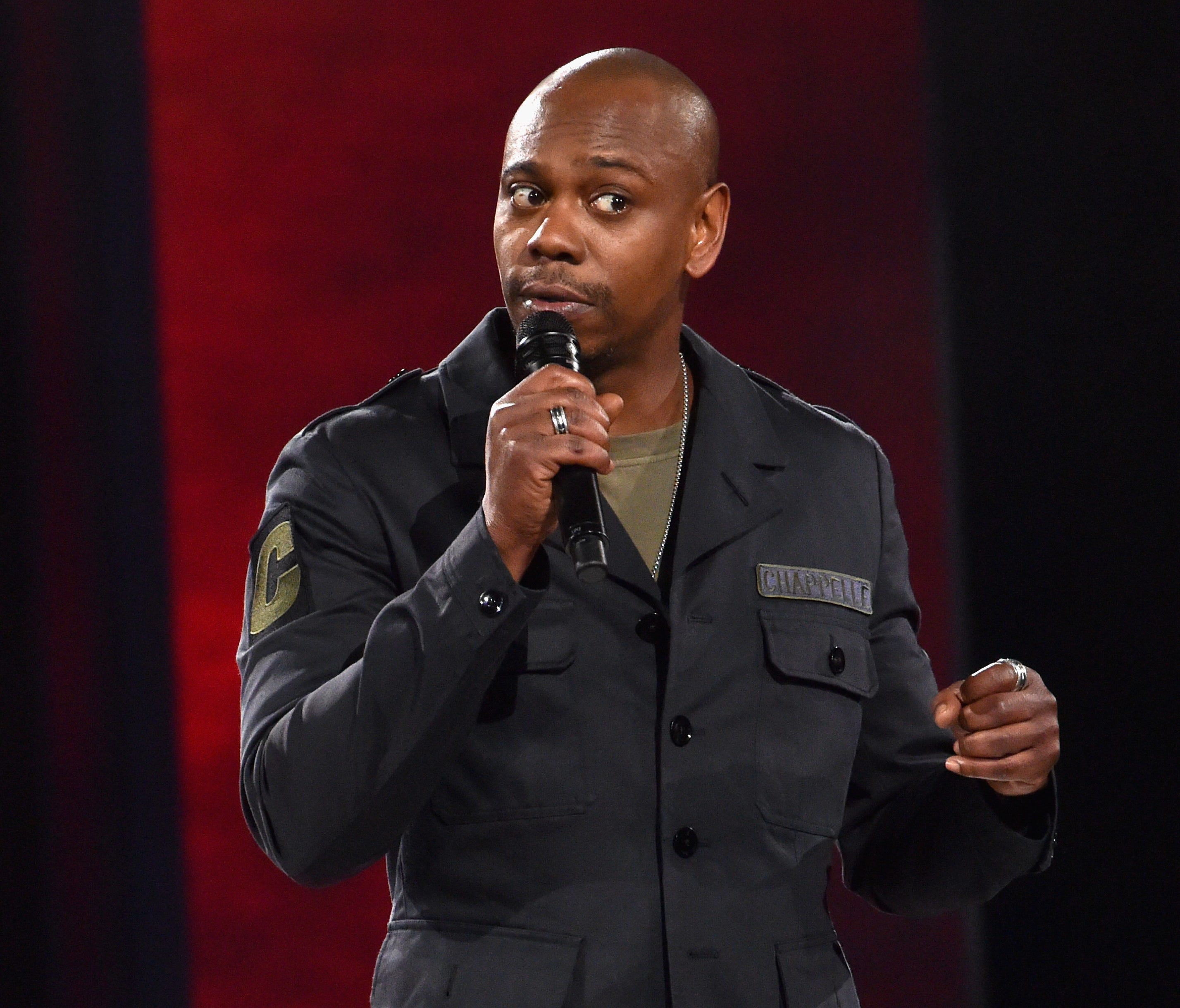 Dave Chappelle performs at the Hollywood Palladium on March 25, 2016. His set streams on Netflix Tuesday.