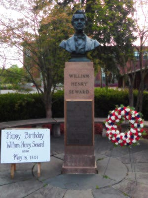 While Seward Day festivities were canceled in the Village of Florida, the day was still remembered with a wreath laying.