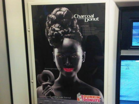 Thailand Blackface Doughnut Ad