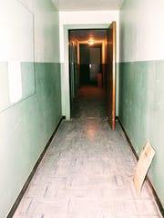 A creepy hallway on the third floor of vintage store