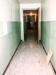 A creepy hallway on the third floor of vintage store Everything Outwest, 819 N. New York Ave.
