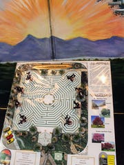 A model of the community labyrinth stands at CAPPED headquarters, 907 N. New York Ave.