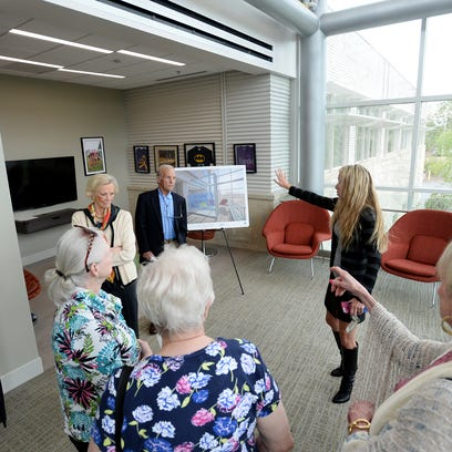 Bern DuPree of Clement's Kindness Fund for Children speaks about plans for a new St. Francis Adolescent and Young Adult Cancer space that were unveiled by Clement's Kindness Fund for Children and the Bon Secours St. Francis Cancer Center during a press conference on Thursday, May 5, 2016