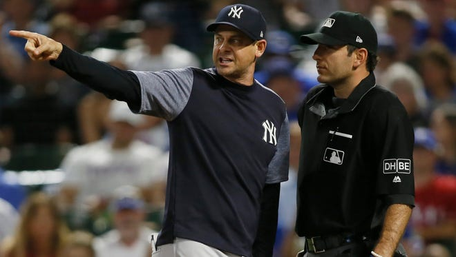 New York Yankees manager Aaron Boone could have been put in a difficult position if the team followed through on a boycott of ESPN reporters over a change in game times. Boone previously worked as an ESPN analyst before taking the Yankees job.