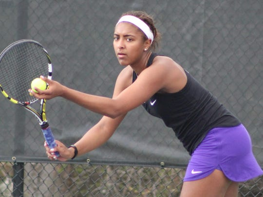 Junior Haley Washington is new to the Bloomfield Hills