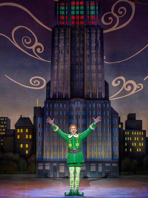 "Eric Williams as Buddy in the national touring company of ""Elf The Musical."""