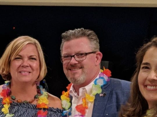 Beachland Elementary School's Spring Social fundraiser was on April 28 and attended by, from left, Megan Raasveldt, Vero Beach Mayor Harry Howle, and Cathy DeSchouwer, event sponsor.