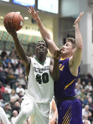 Former Oneonta High standout and first-year Binghamton