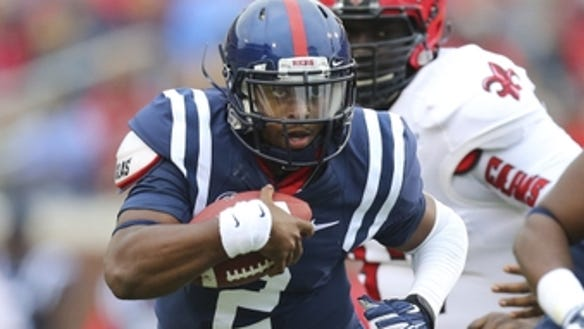 Ole Miss third-string quarterback Davante Kincaid announced