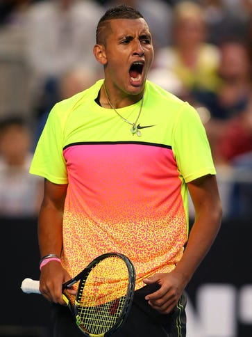 MELBOURNE, AUSTRALIA - JANUARY 25:  Nick Kyrgios of