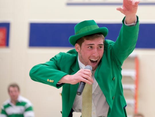 Connor Delaney, one of six leprechaun hopefuls, hypes