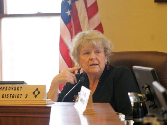 County Commission Chair Linda Smrkovsky discusssed