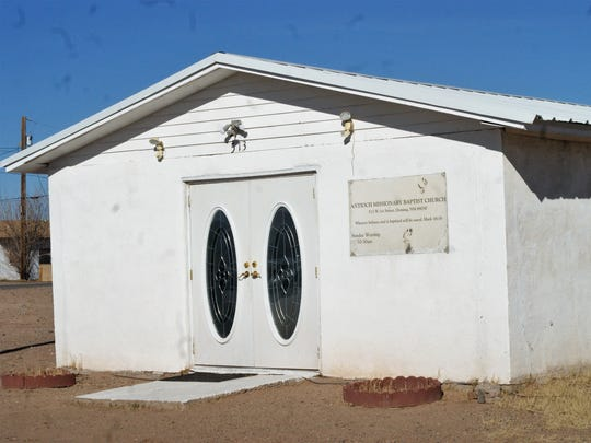 Antioch Missionary Baptist Church is slowly upgrading its facilities. Its front doors were donated by Solitaire Homes of Deming.