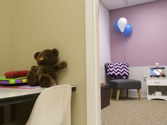 OhioHealth Mansfield Hospital debuted its expanded forensics department Tuesday. This is one of the new interview rooms.