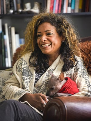 Bel Kambach talks about a liver transplant during an interview Oct. 11, 2017, at her St. Cloud home.