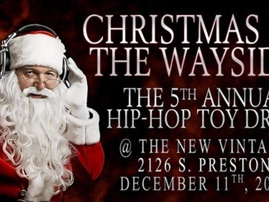 Christmas by the Wayside gig poster