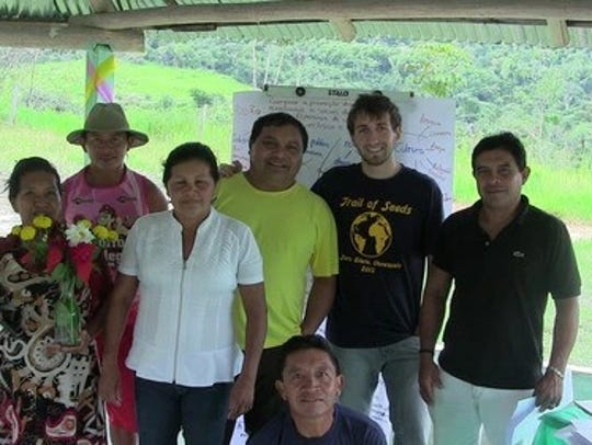 Sal Lavallo (second from left) with Amazonian Indigenous