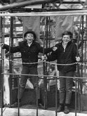 Boys ride the Roundup at Edgewater in March 1969, a