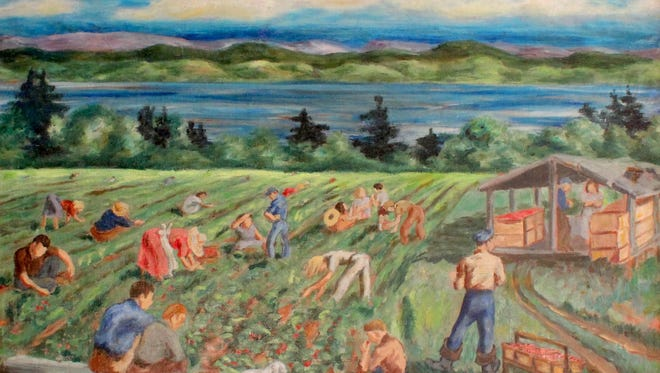 """Strawberries,"" Alzira Pierce (American 1908-2010) ca. 1940 Courtesy Gallery Moderne, Piermont. NY"