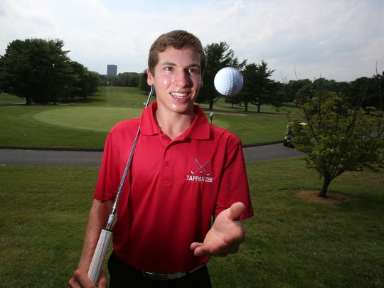 Tappan Zee's Isaac Gorenstein at Blue Hill golf course in Pearl River July 2, 2014. He is the Journal News Rockland County golfer of the year.