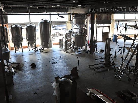 Construction at Wichita Falls Brewing Company progresses