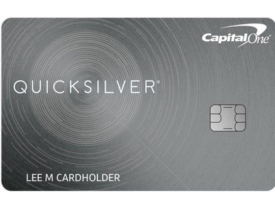 CapitalOne quicksilver cash card