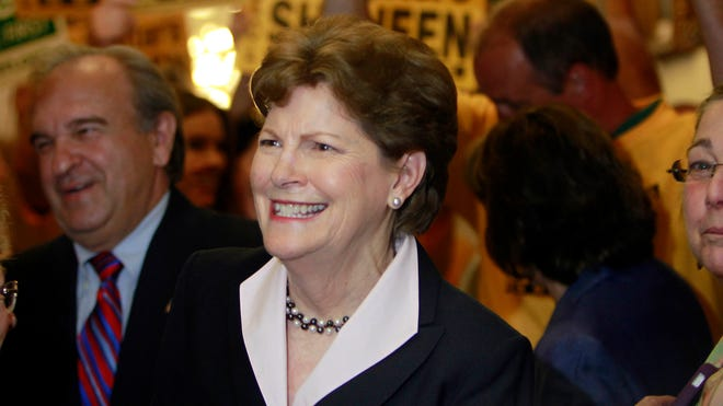Sen. Jeanne Shaheen, D-N.H., arrives at the Secretary of State's office in Concord, N.H., on June 9 to file her campaign paperwork.