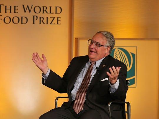 Howard Buffett, president of the Howard G. Buffett Foundation, at the Iowa 2013 World Food Prize.