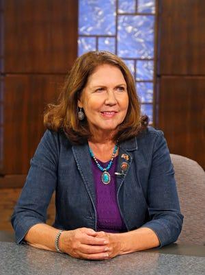 Ann Kirkpatrick takes part in a debate at the Eight, Arizona PBS studios Wednesday, Sept. 24, 2014 in Phoenix, Ariz
