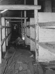 This August 11, 1955 image shows the inside of the barracks with the bunks of the women's camp at the Nazi concentration camp Auschwitz Birkenau (Auschwitz Camp II), Poland, which was liberated by the Russians, January 1945. The barracks were built according to the construction plans for horse stables of the German cavalery, Type 260/9.