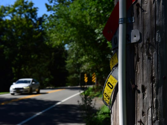 An Eruv remains on a utility pole on W Saddle River