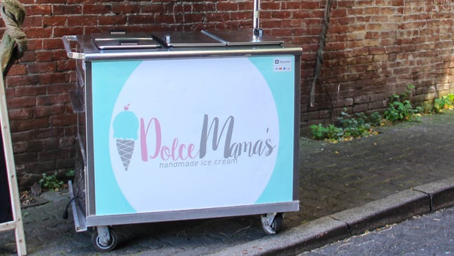 Dolce Mama's handmade ice cream operates in the basement level of Reed Opera House.